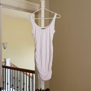 A pea in the pod white mini dress maternity